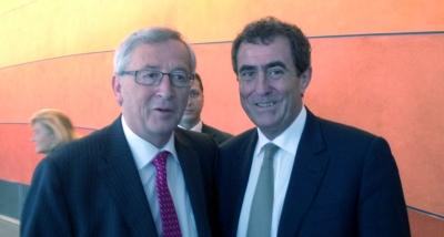 JP Audy et JC Juncker président de la Commission européenne